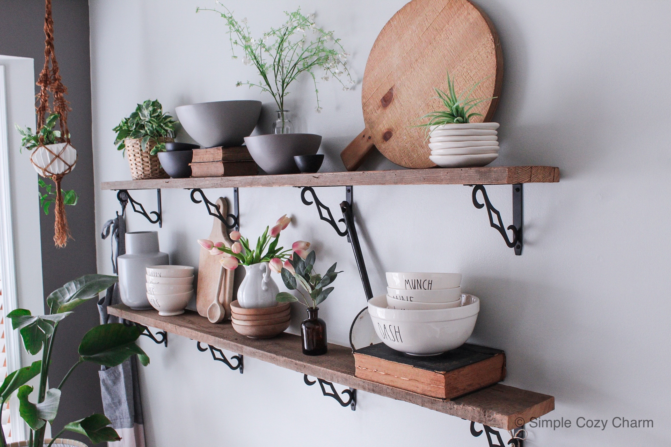 decor pieces perfect for shelf styling - open shelves