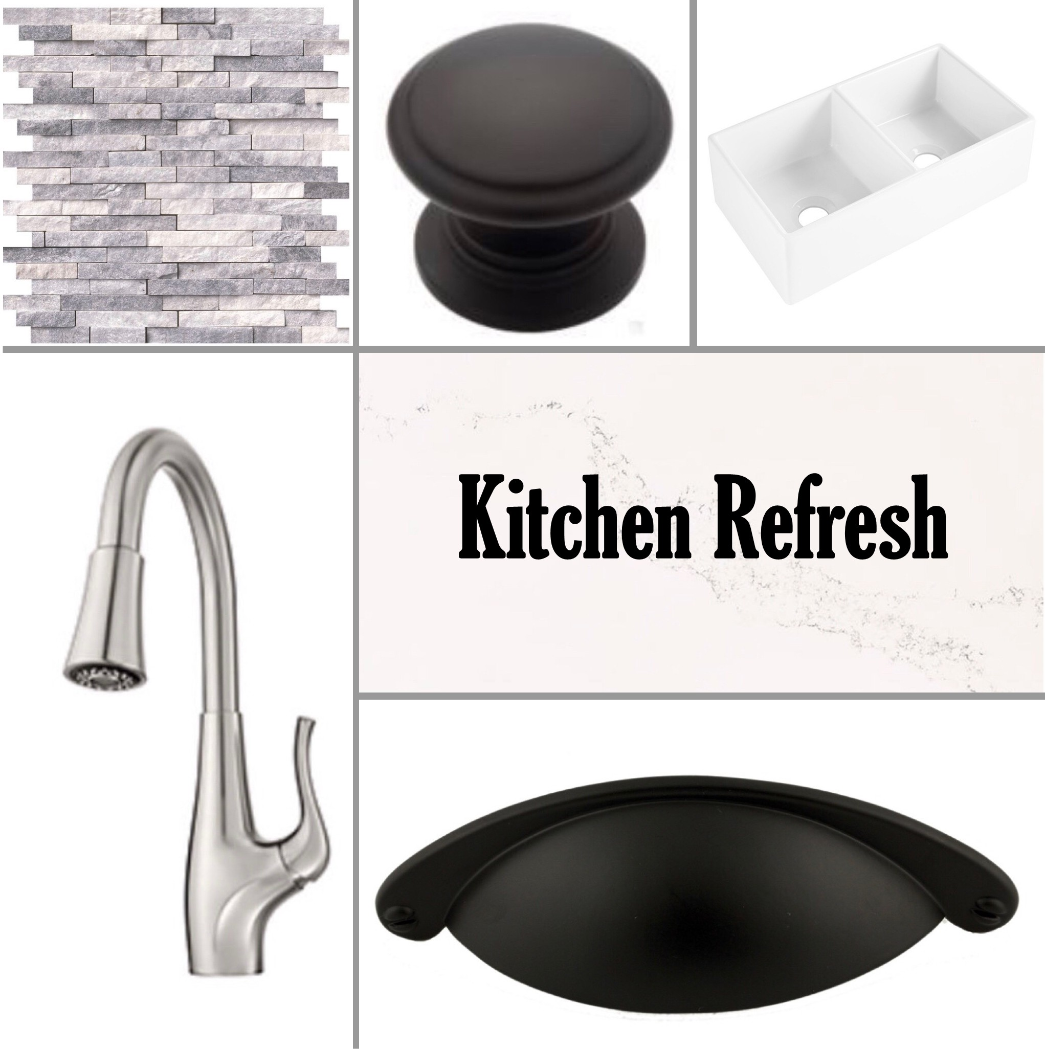 small kitchen refresh mood board