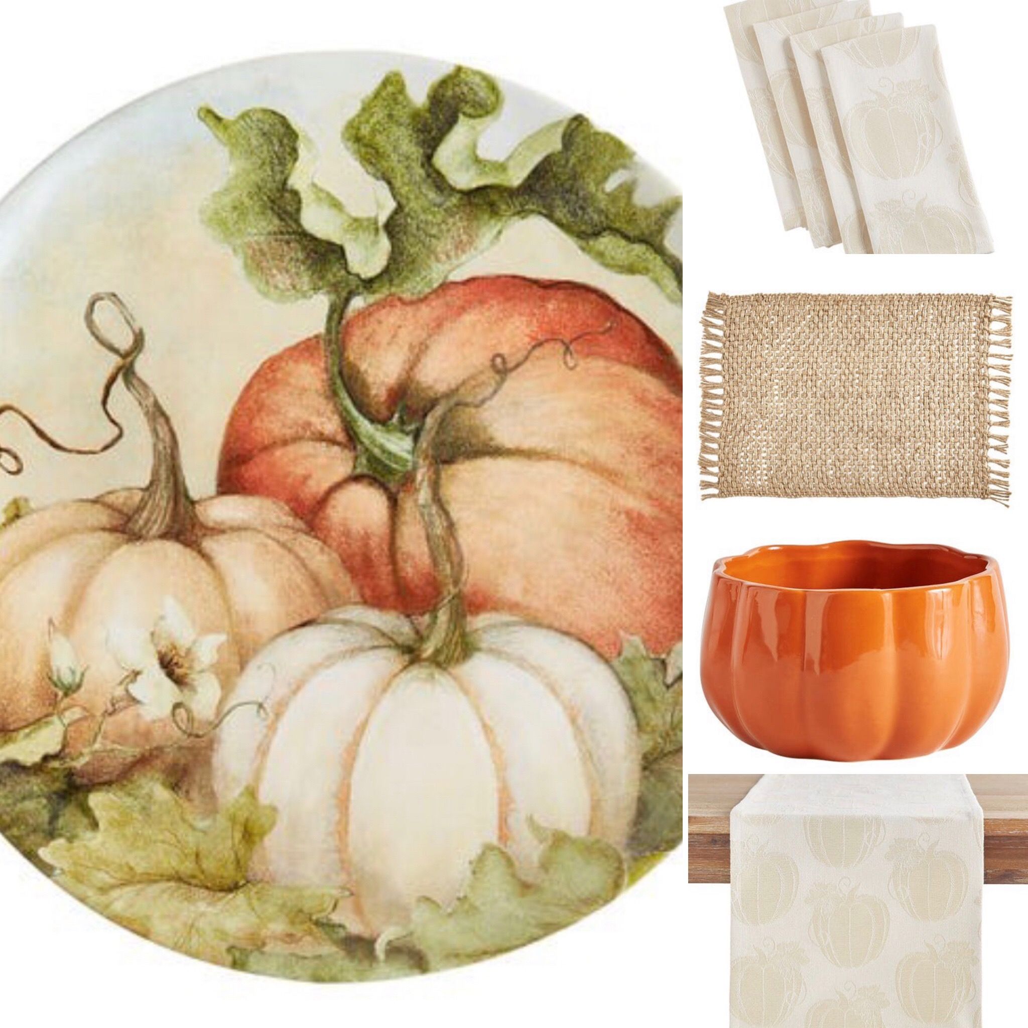 ten fall tablescape combinations - keeping neutral but with a bolder statement