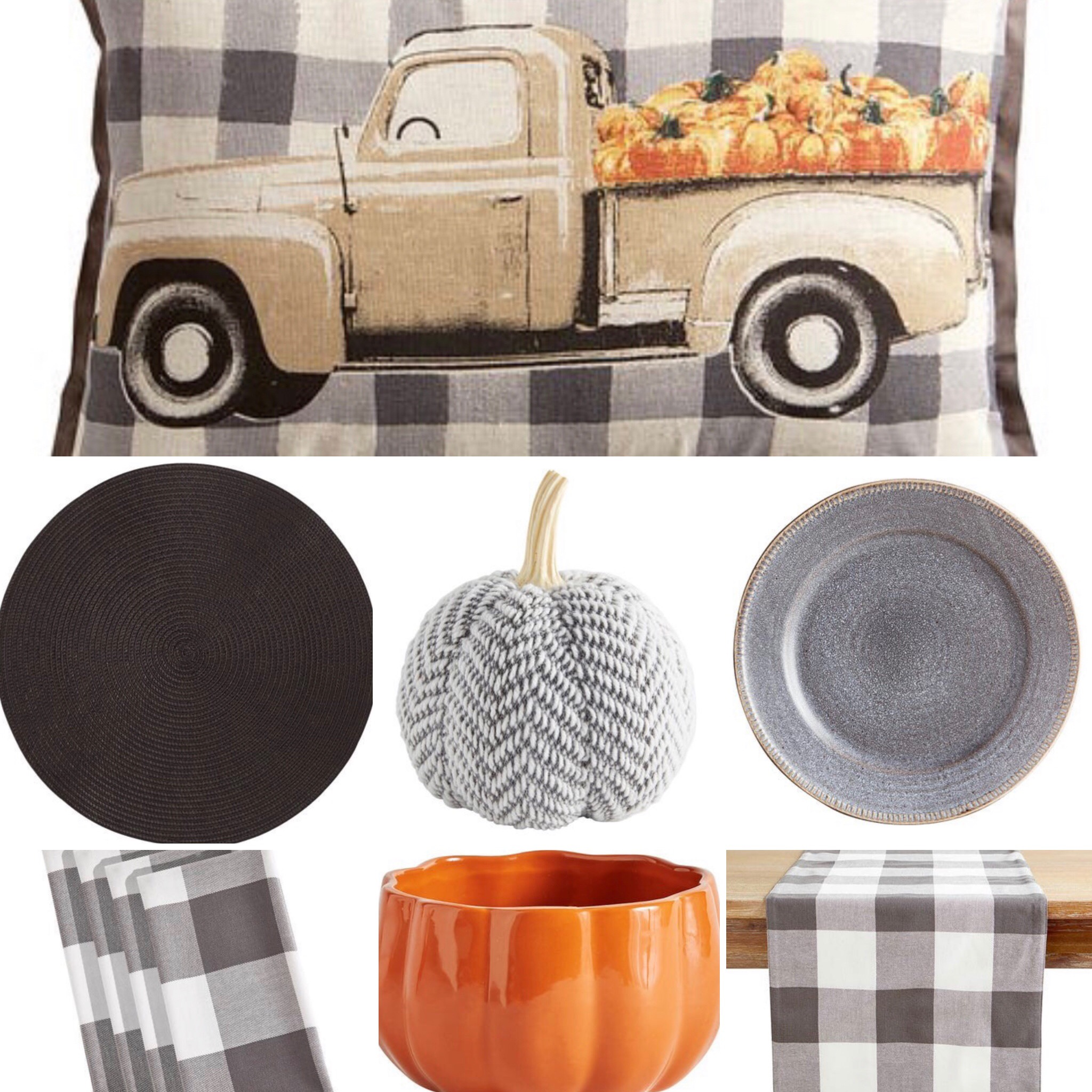 ten fall tablescape combinations - for some that means all things buffalo check!