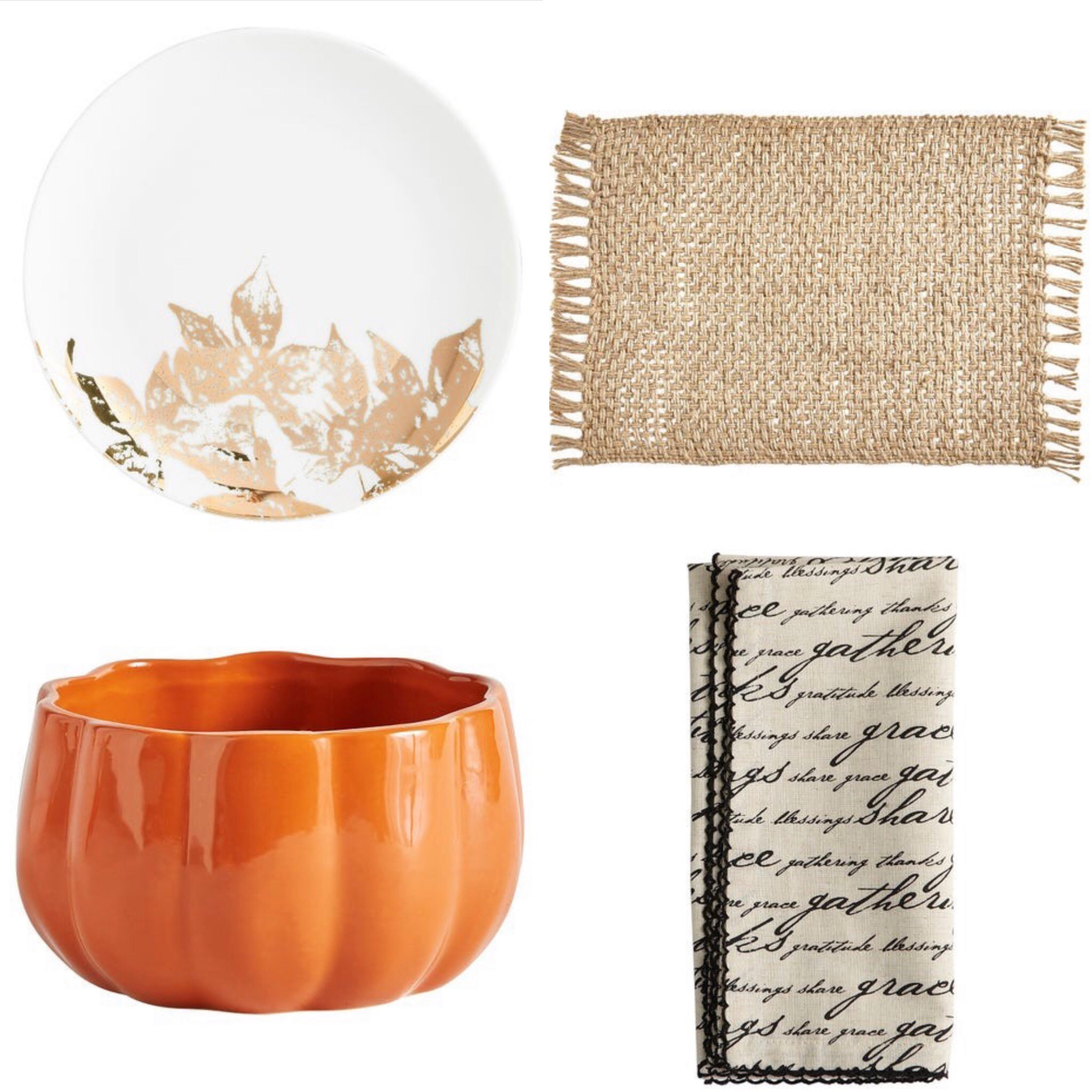 ten fall tablescape combinations - added texture and warmth
