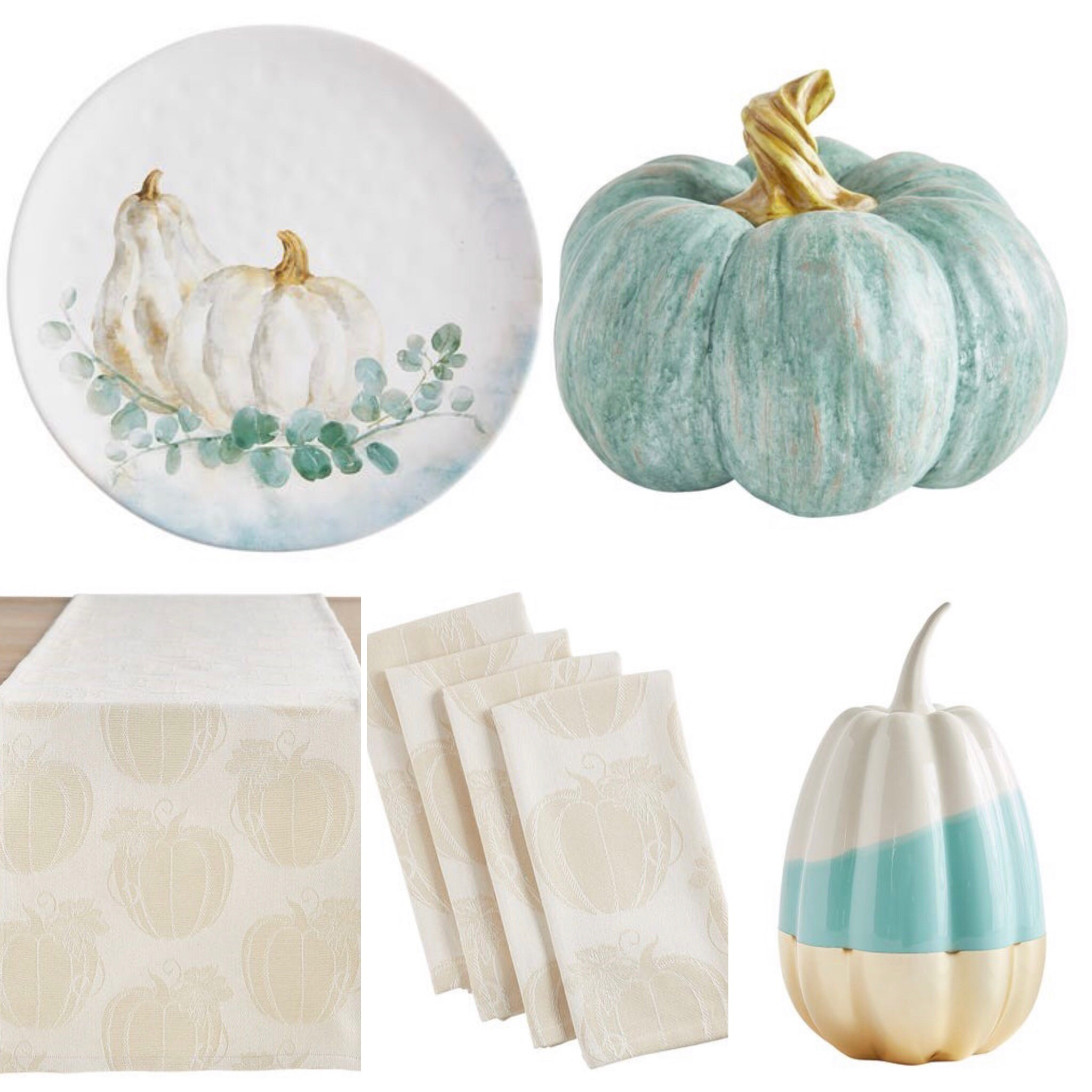 ten fall tablescape combinations - sprinkles of soft blues