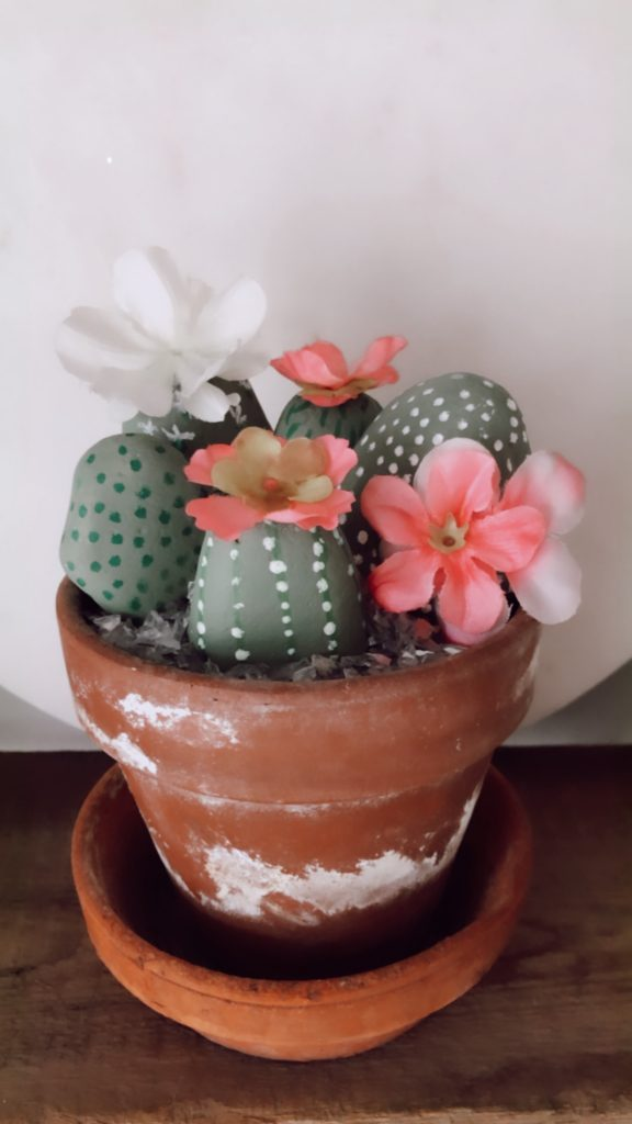 faux cacti craft - fun for kids and adults