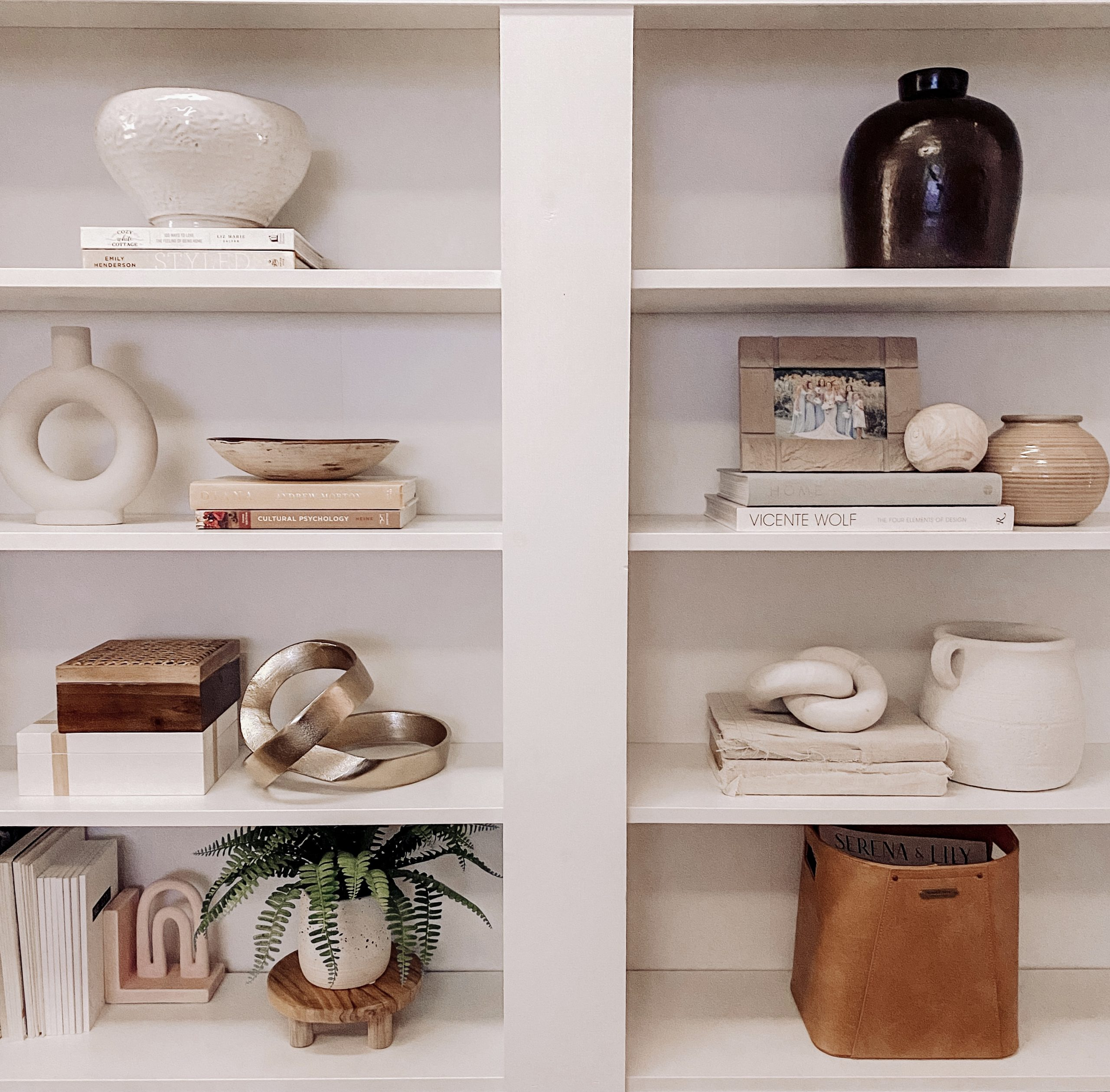 tips and tricks to styling a bookcase