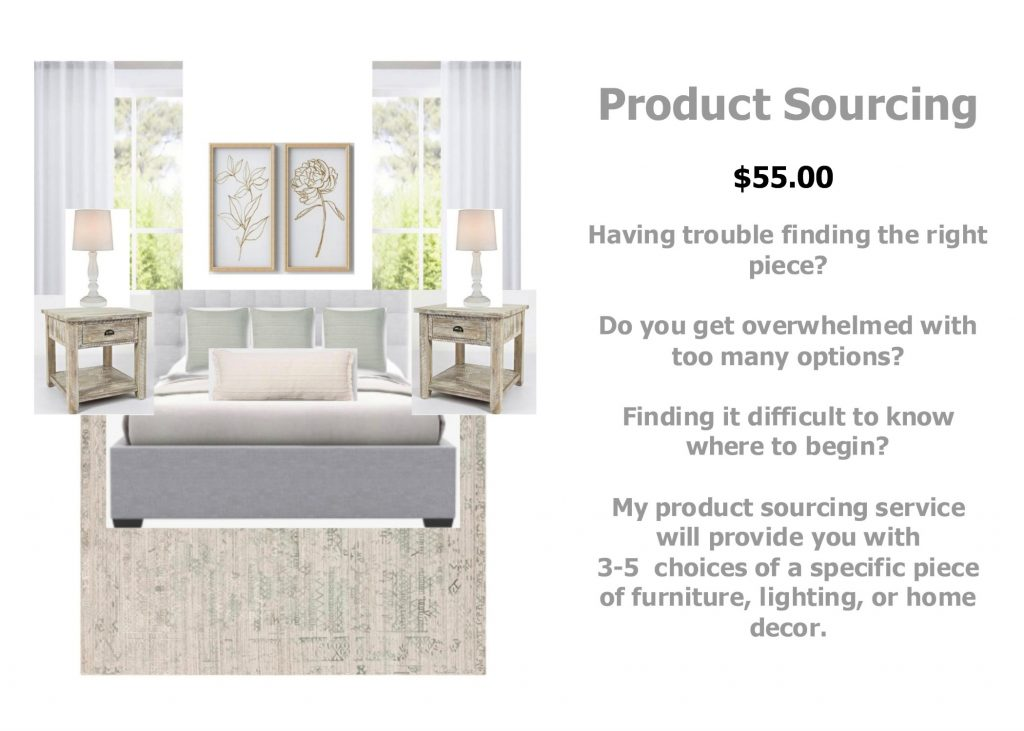 product sourcing example / bedroom